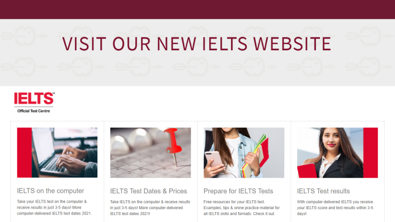 IELTS on computer: more locations & new website