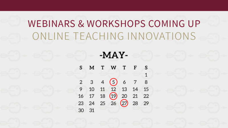 New webinars and workshops coming up!