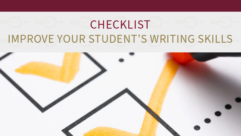 Checklist to improve your student's writing skills