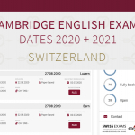 Cambridge English Exam Dates 2020 2021 - with Swiss Exams we do more for students