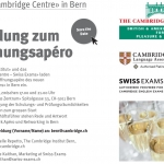Invitation to new Cambridge Preparation and Exam Centre in Berne