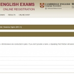 Cambridge Exam Registration - Choose your Speaking Partner